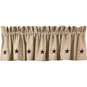 NWT Country House Collection Heritage Star Valance